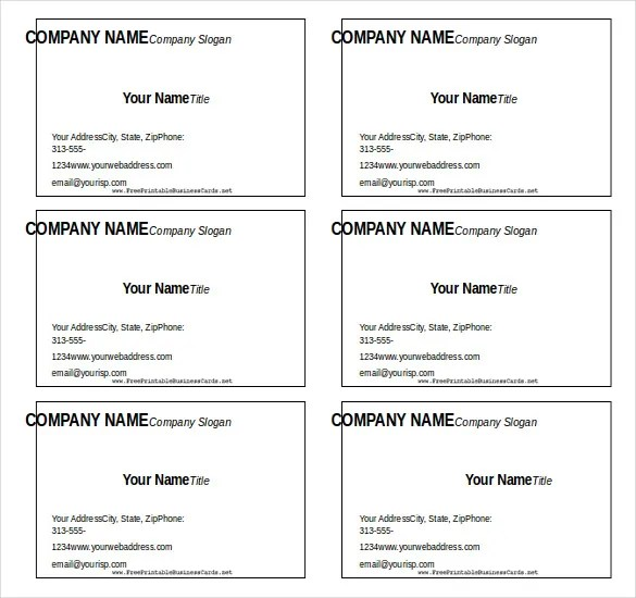 Use a word business card template to design your own custom cards by adding a logo or tagline. 11 Microsoft Word Free Blank Templates Download Free Premium Templates