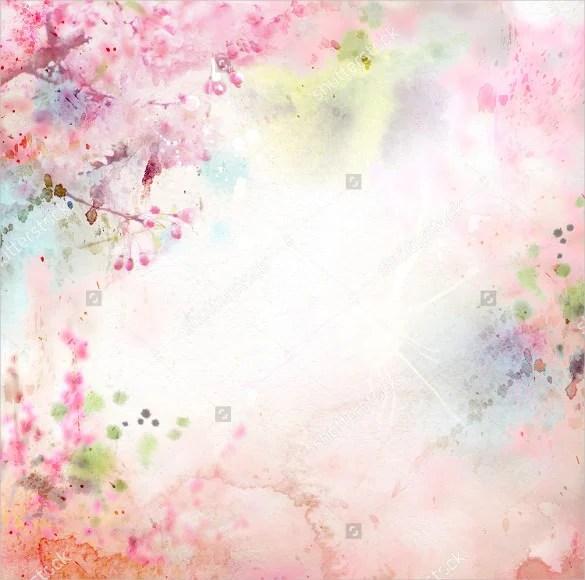 Blurred Flower Garden Background