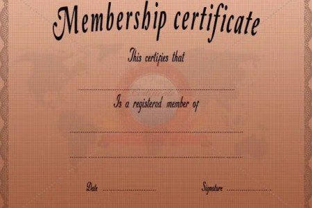 Membership Certificate Template   23  Free Word  PDF Documents     Membership Certificate Template Free PDF Format Download