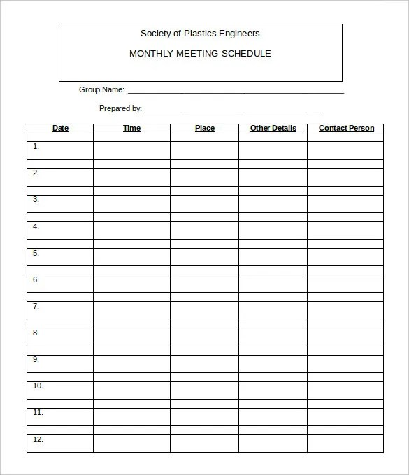 Excel calendar templates with monthly, yearly options and holidays are available. 22 Monthly Work Schedule Templates Pdf Docs Free Premium Templates