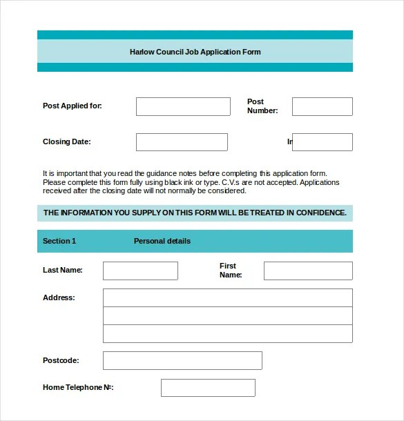 Please complete each section, even if you attach a resume. 15 Job Application Templates Free Sample Example Format Download Free Premium Templates