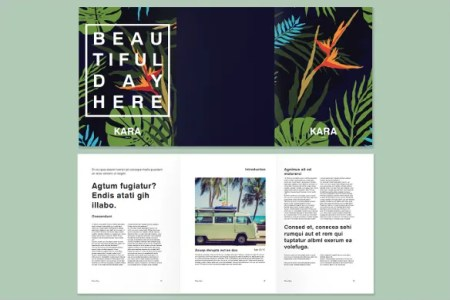 InDesign Brochure Template   33 Free PSD  AI  Vector EPS Format     Tropical Branding Indesign Trifold Brochure Template