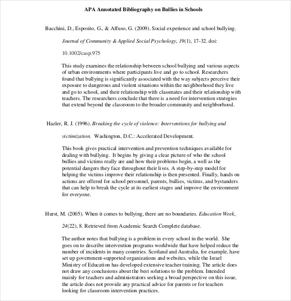 bibliography for essay annotated bibliography template annotated ...