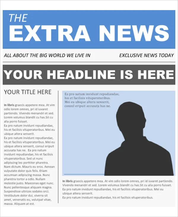 Front Page Newspaper Template - FREE DOWNLOAD