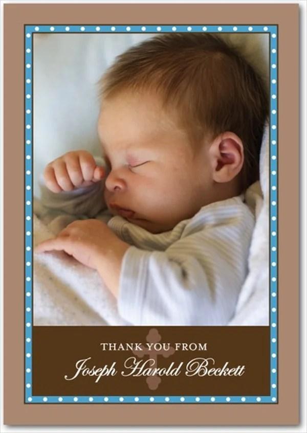 11 Baptism Thank You Cards PSD AI EPS Free Premium Templates
