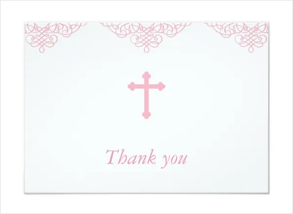 Baby Dedication Thank You Cards