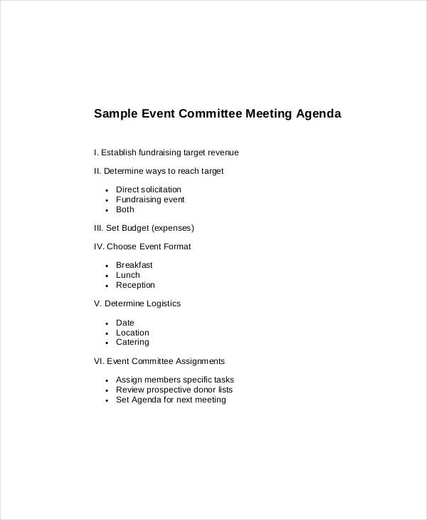 15+ Committee Meeting Agenda Templates – Free Sample ...