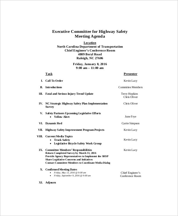 > benefits of a safety meeting agenda template. Safety Committee Meeting Topics Hse Images Videos Gallery