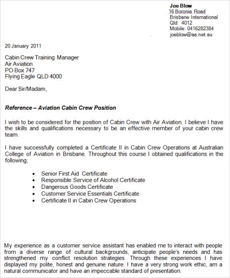Resume For A Flight Attendant - Resume Sample