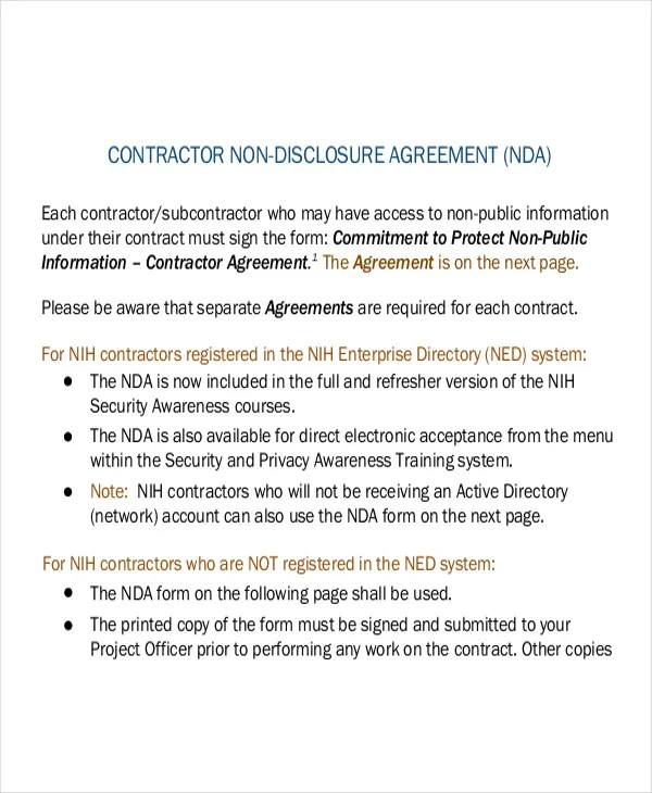 Non Disclosure Agreement Form 9 Free Word PDF Documents Download Free Premium Templates