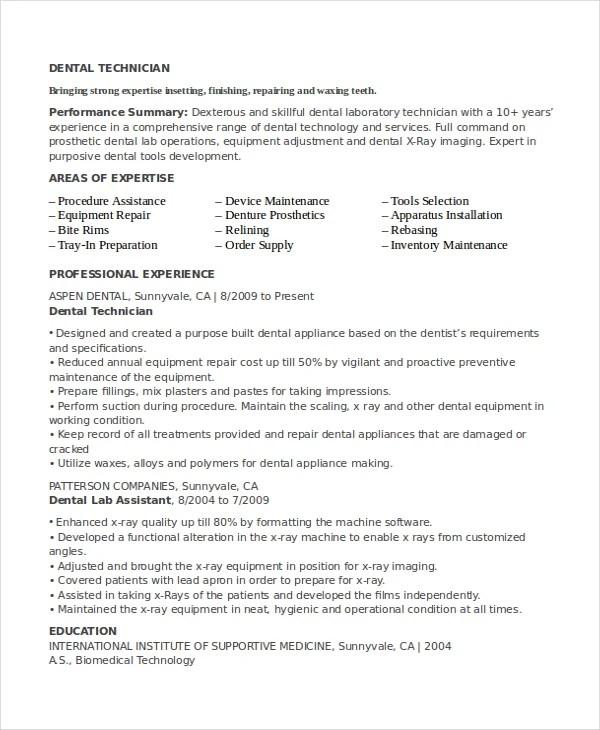 lab technician resume resume sample