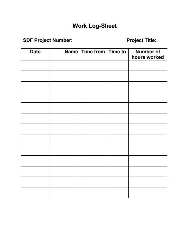 Prosperforms — set up a form and start receiving submissions from your colleagues in minutes. Work Log Template 7 Free Word Excel Pdf Documents Download Free Premium Templates