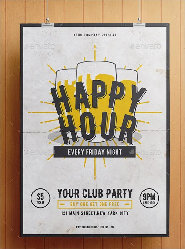 22 Happy Hour Flyer Templates Word PSD AI EPS Format Download Free Premium Templates