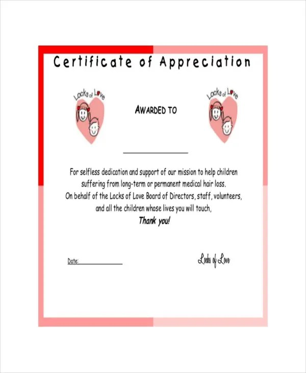 Example of certificate of appreciation free download yadclub Gallery