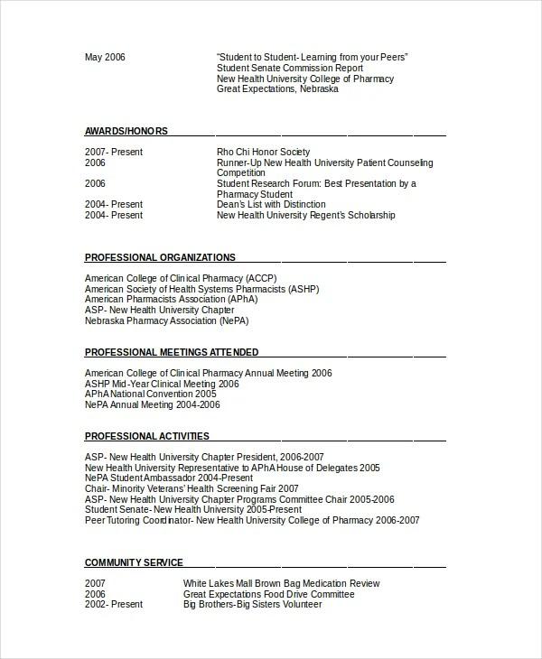 Pharmacist Resume Pdf Resume Sample