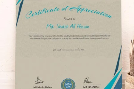 Certificate of Appreciation Template   24  Free Word  PDF  PSD     Easily Editable Certificate of Appreciation Template