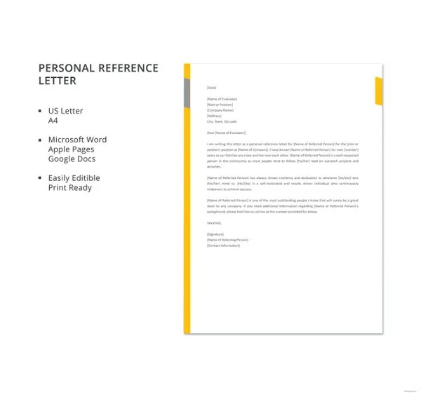 Business Reference Letter Templates