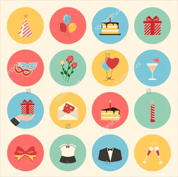 622 Birthday Icons Free Ai Vector Eps Format Download