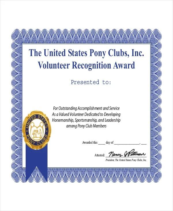 Volunteers certificate templates free download yelopaper Images