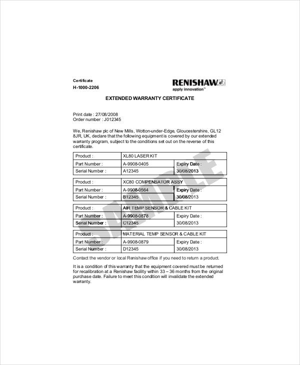 Extended Warranty Letter Template  Docoments Ojazlink
