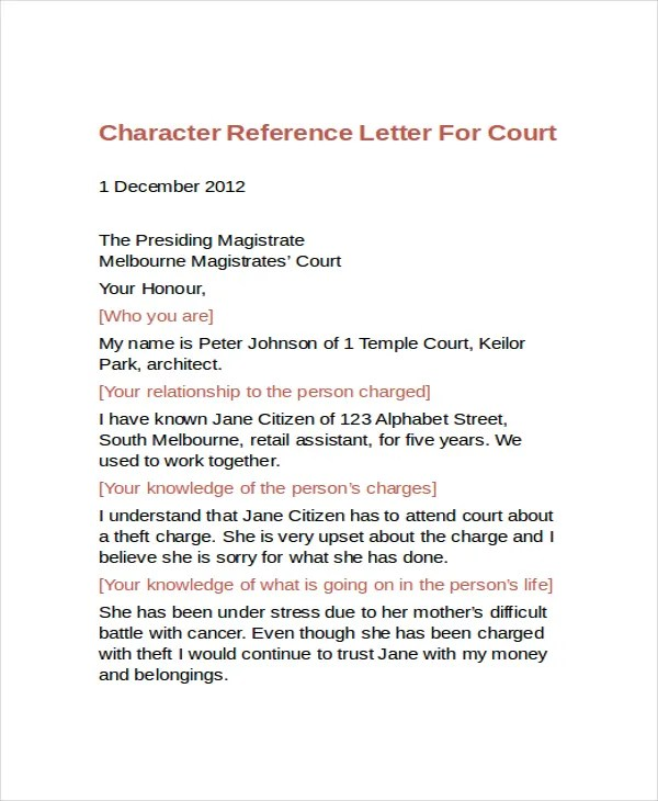 Sample Character Reference Letter For Child Adoption - Cover Letter ...