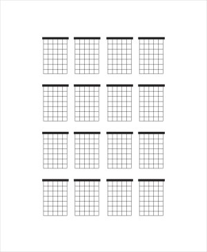 Blank Guitar Chord Chart Template  5 Free PDF Documents