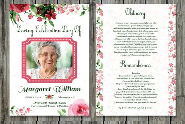 Champlain College Publishing  Funeral Template Download