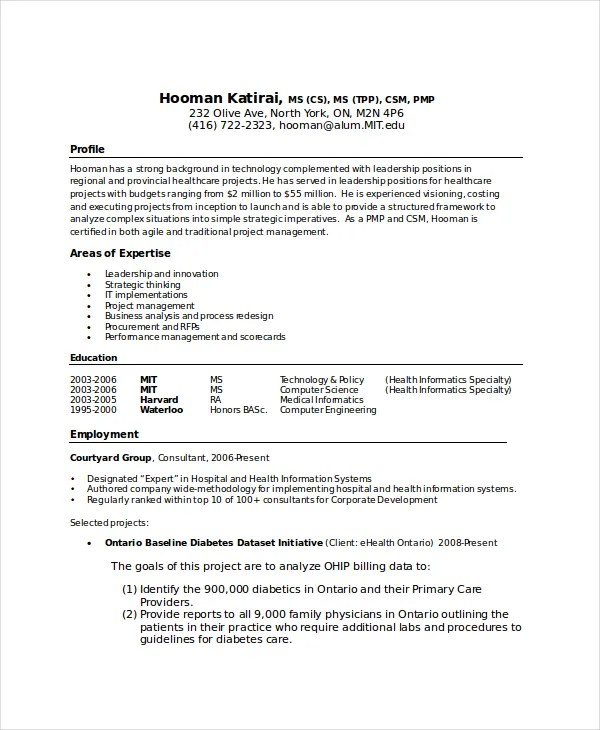 computer science resume template 7 free word pdf doent - Health Science Resume Template