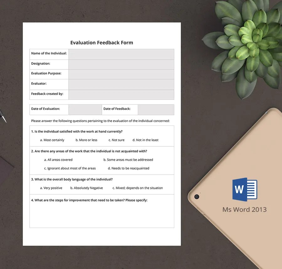 Interview Questions Form Template