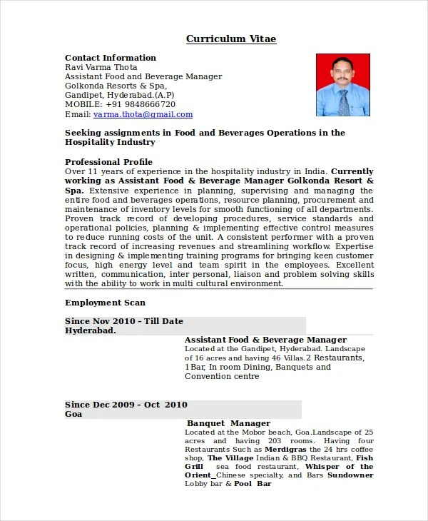 Restaurant Manager Resume Example Unforgettable Restaurant Manager