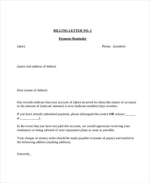 15+ Payment Reminder Letter Templates - PDF, Google DOCS ...
