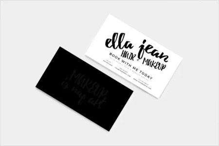 33  Artist Business Cards   Free PSD  AI  Vector  EPS Format     Hair   Makeup Artist Customizable Business Card