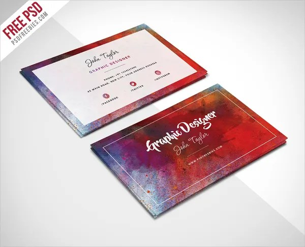 images for artist business card template