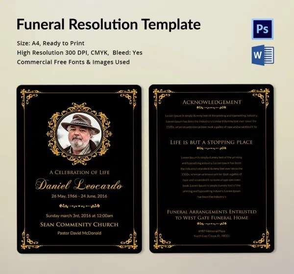 Funeral Resolution - FREE DOWNLOAD