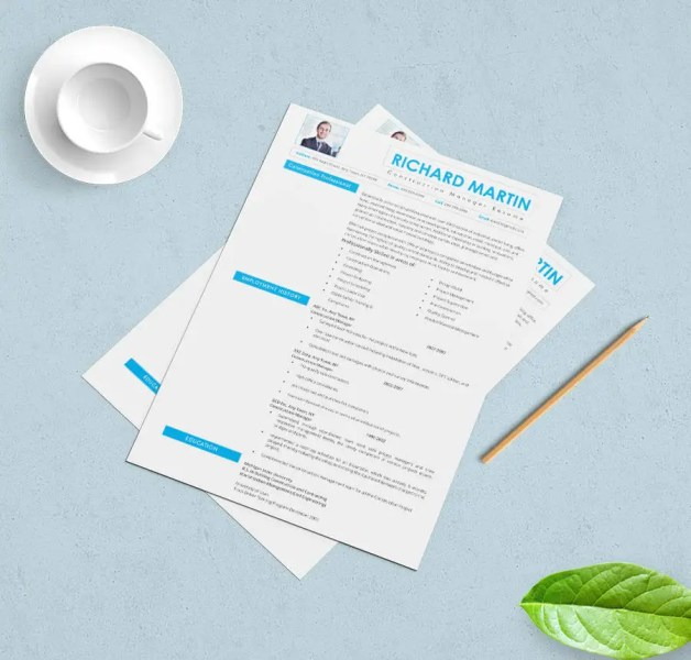 39  Free Resume Templates   PDF  DOC   Free   Premium Templates Construction Manager Resume Template