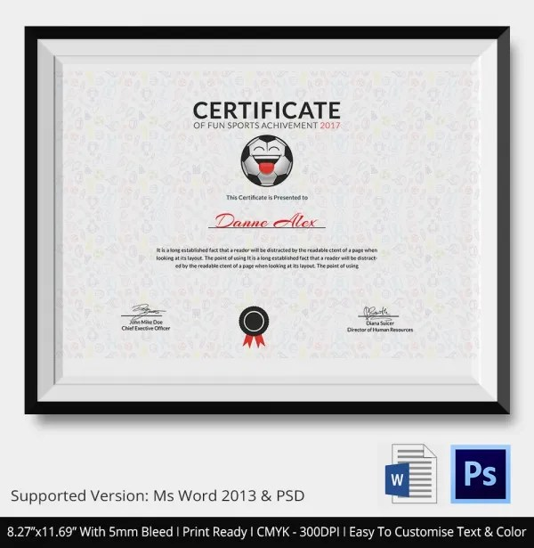 Fun Certificate Templates Free Download