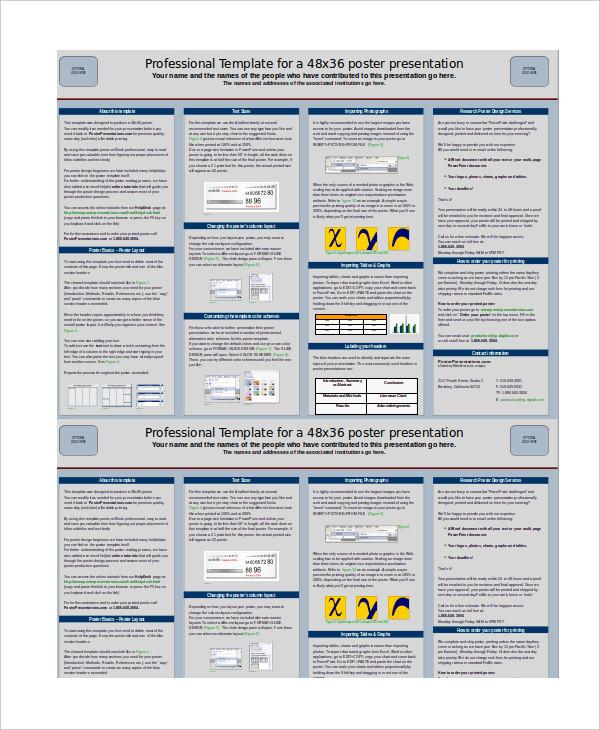 poster presentation 7 free ppt