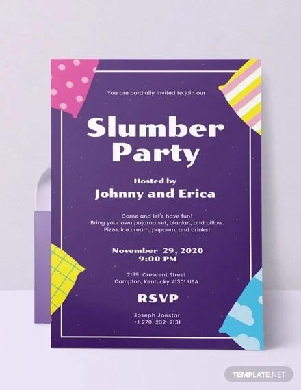 16 slumber party invitation designs