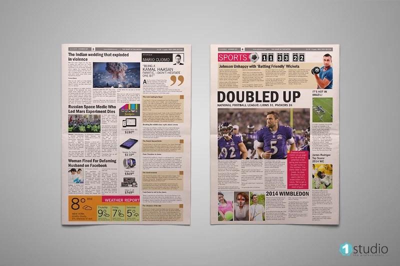 21 Modern Newspaper Layouts Free Amp Premium Templates