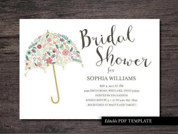 26 Bridal Shower Invitation Templates Word Psd Ai Eps