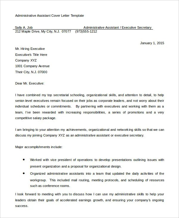 24 Cover Letter Template For Entry Level Human Resources With 17 Outstanding Administrative Istant Resume