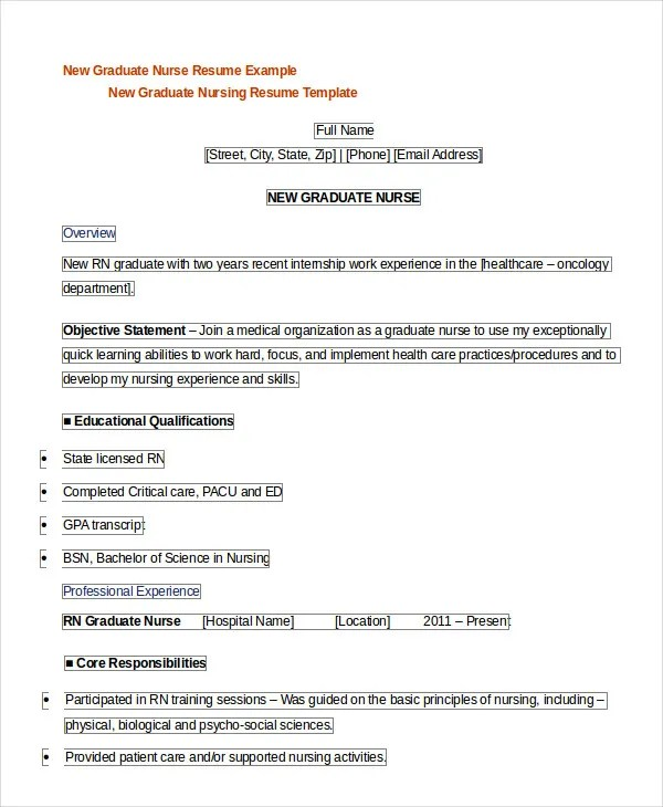 So it is very important that when creating a resume that the nurse creates a resume that will stand out and grab the employers attention. Registered Nurse Resume Example 7 Free Word Pdf Documents Downlaod Free Premium Templates