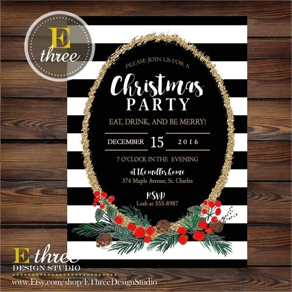 32 Christmas Party Invitation Templates PSD Vector AI