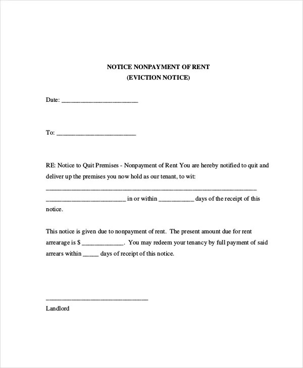 Eviction Letters 10 Free Pdf Word