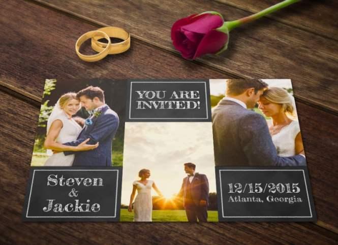 Stylish Watercolor Wedding Invitation