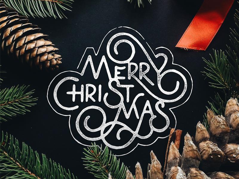 43 Beautiful Christmas Typography Designs Free