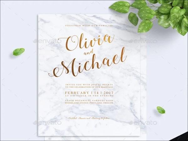 Modern Marble Wedding Invitation
