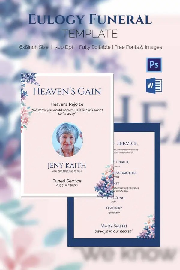 Funeral Program Template 10 Free Word PSD Format Download Free Amp Premium Templates