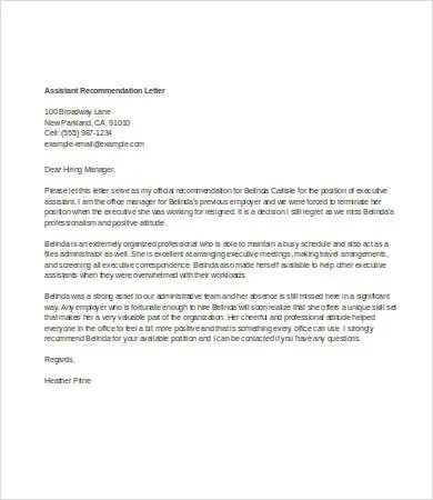 Personal Letter Of Recommendation 6 Free Word Documents Download Free Premium Templates