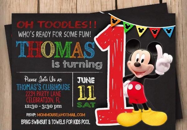 9 Mickey Mouse Birthday Invitation Designs Templates PSD AI Free Premium Templates